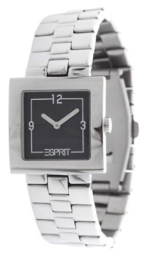Esprit International ES105412001 cedar anthracite Uhr Damenuhr Edelstahl Edelstahl 30m Analog silber