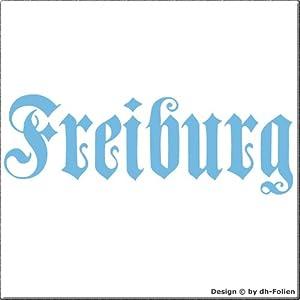 cartattoo4you AH-00662 | FREIBURG - Fraktur / Altdeutsche Schrift | Autoaufkleber Aufkleber FARBE pastellblau , in 23 weiteren Farben erhältlich , glänzend 57 x 20 cm in PREMIUM - Qualität Waschstrassenfest VERSANDKOSTENFREI