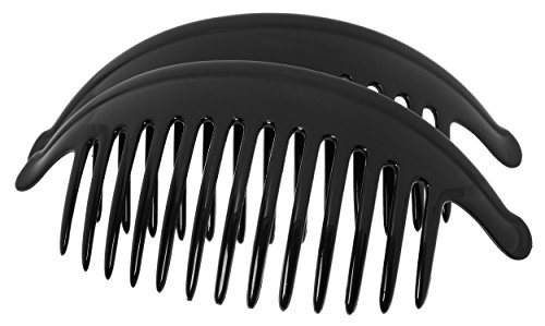 France Luxe Large Interlocking Comb Pair - Black (Mane Clip compare prices)