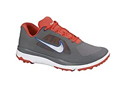 Nike Golf Men\'s Fi Impact High Performance Golf Shoe,Dark Grey/Lt Crimson/White/Black,8.5 M US