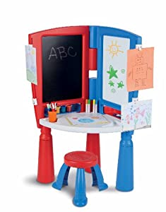 Amazon Com Little Tikes 2 In 1 Art Desk Amp Easel Toys Amp Games