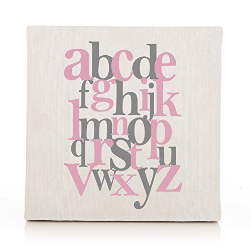 Sweet Potato Swizzle Wall Art, Pink Alphabet