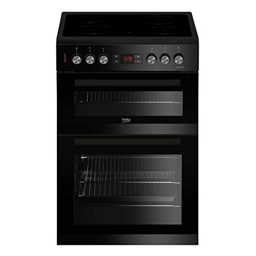 KDC653K 600mm Electric Double Oven with 105L Capacity in Black