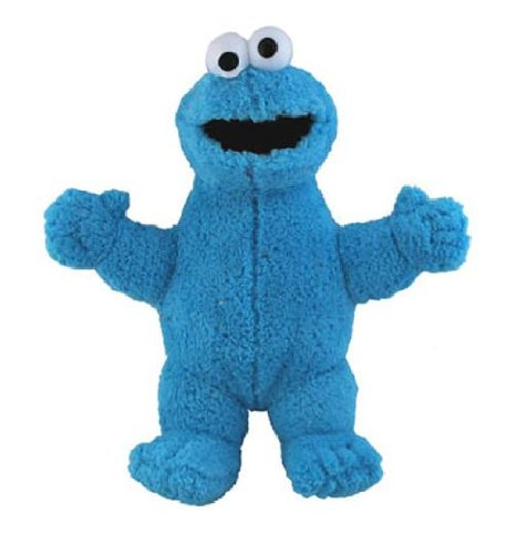 "Sesame Street 9"" Cookie Monster Classic Plush Doll"