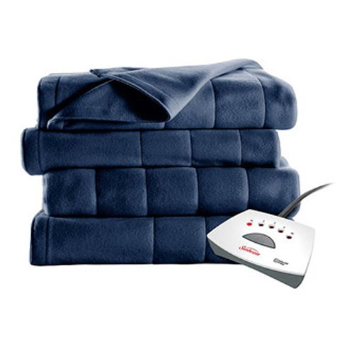 #1 Selling Sunbeam Heated Fleece Electric Blanket in a Twin Size. A Long 10 Hour Shut Off with a 6 Foot Cord Makes It an Ideal Buy in Bedding. Dont Overpay for a Throw, Get a Bigger Warming Fleece Blanket with Better Technology!!! (Royal Blue) (Sunbeam Heating Blanket Cord compare prices)