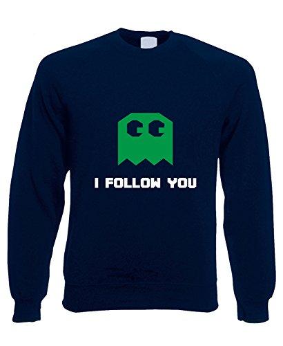 Felpa girocollo I Follow you - pacman - - in cotone by Fashwork