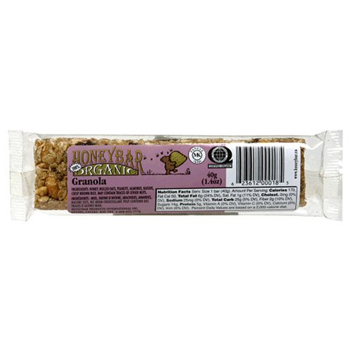 Buy HoneyBar, 100% Organic, Granola, 1.4-Ounce Bars (Pack of 12) (HoneyBar, Health & Personal Care, Products, Food & Snacks, Breakfast Foods)