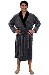 Del Rossa Men's 15 oz Fleece Bathrobe…