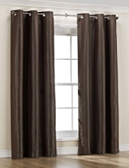 Metallic Textured Eyelet Curtains