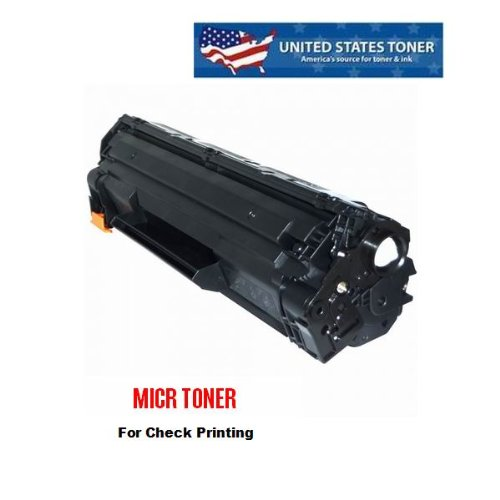 MICR Toner Cartridge Replaces CE285A For HP P1102 Series Printers - United States Toner brand, STMC Certified for Check Printing.