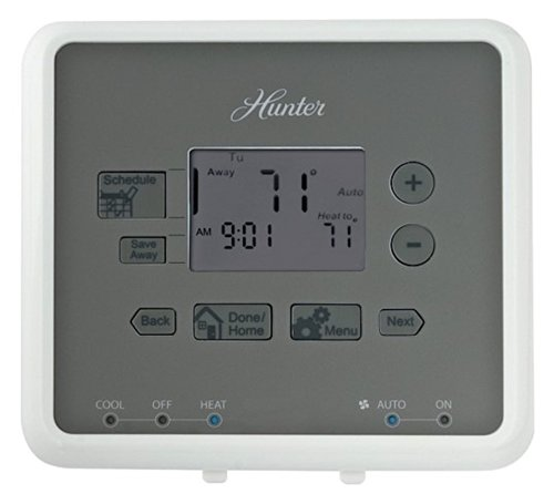 Hunter 44134 - 5/2 Digital Programmable Thermostat (Home Thermostat, Ac, Heat)