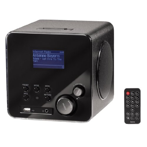 hama ir100 radio internet wifi noir radio radio r veil. Black Bedroom Furniture Sets. Home Design Ideas