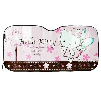 Hello Kitty Windshield Sun Shade: Classic Angel