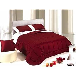 Edredón de invierno plaza dobla de algodón satinado rojo