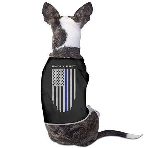 YRROWN Thin Blue Line American Flag Dog Sweater (100 Bullets Complete compare prices)