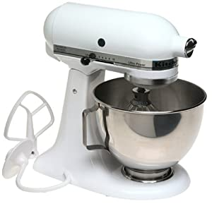 Factory-Reconditioned KitchenAid RRK90WH 300-Watt Ultra Power Stand Mixer, White