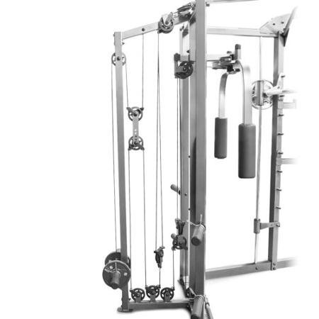 Adjustable-Safety-Stops-Combo-Smith-Machine-Black