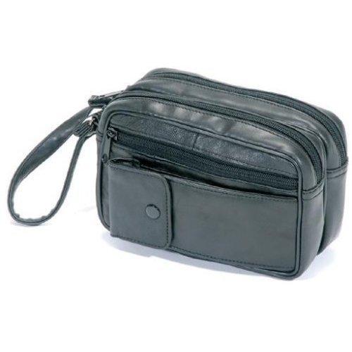 Herrentasche-Handgelenktasche-Nappaleder-schwarz#1