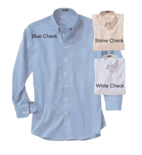 Mens Rivers End Easy - Care Checkered Long - sleeve Shirt
