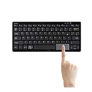 iBUFFALO Bluetooth 3.0対応 コンパクトキーボード タッチパッド搭載モデル ブラック BSKBB23BK