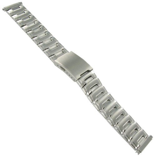 16-22mm Speidel Adjustable Silver Tone Deployment Buckle Stainless Steel Watch Band 1000WR