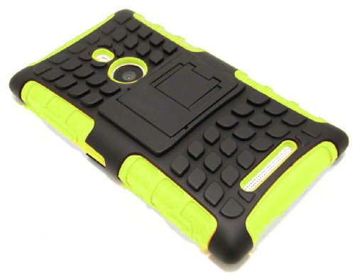 Cell-Nerds Nerdshield Armor Case Cover With Built-In Kickstand For Nokia Lumia 925 - Cell-Nerds Packaging (Lime)