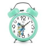 Modern Fashion Lovely Metal Alarm Clock Pink Green 872