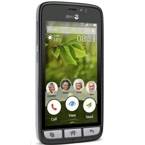 Doro Phone Easy 8031 Telefono Cellulare da 8GB, Marchio Tim, Nero