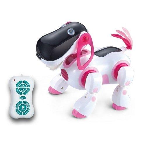 Ir Rc Smart Storytelling Sing Dance Walking Talking Dialogue Robot Dog Pet Toy. Pink Color