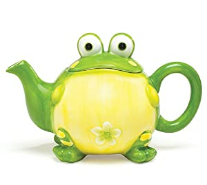 Adorable Toby the Toad Frog Teapot For Kitchen Decor by Burton & Burton