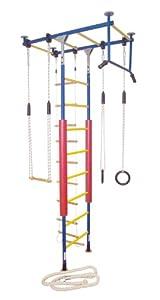 Kletterdschungel Sprossenwand Indoor Klettergerüst (Blau/Gelb, für Raumhöhen von 300 - 350 cm)