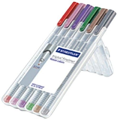Staedtler Triplus Fineliner 0.3mm - Pack of Six (Nature (Old version with stand case)) (Triplus Fineliner Nature Colours compare prices)