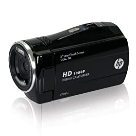 HP V5061u 1080p Digital Camcorder with 3-Inch Touchscreen LCD (Black)