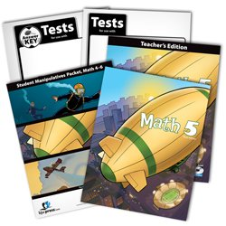 BJU Math 5 Subject Kit--Worktext, Teacher with CD, Manipulative Kit (grades 4-6), Tests, and Keys (Bju Press 5th compare prices)