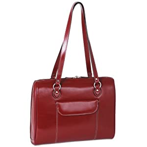 McKleinUSA GLENVIEW 94746C Red Leather Ladies' Laptop Case
