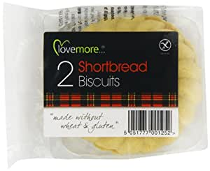 Lovemore Gluten Free Shortbread Thistle Round Biscuits Twin Packs Individually Wrapped (Pack of 12, Total 24 Biscuits)