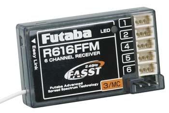 Futaba R616FFM 2.4GHz FASST Micro Park Flyer Rx 6Ch