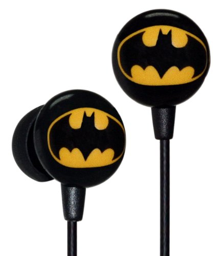 Ihip Dcf10163Bm Classic Batman Logo Hi-Fi Noise Reducing Ear Buds (Earphones) Black/Yellow