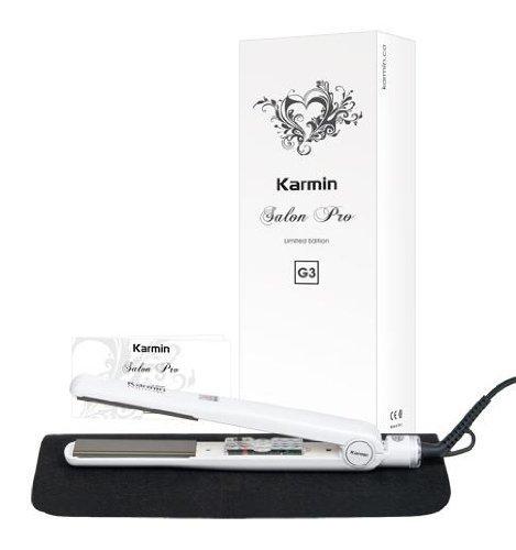 "Karmin G3 Salon Pro White 1"" Tourmaline Ceramic Flat Iron G3Pro-Wh"