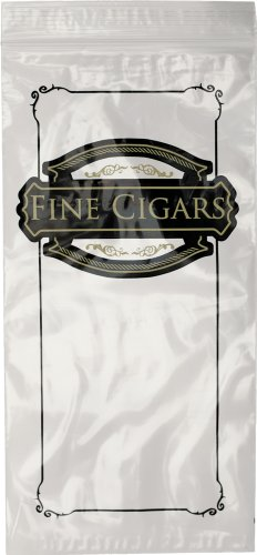 "Interplas CZCIGAR Cigar Bags - Ziplock Bags Printed""Fine Cigars"" 10"" Length 5"" Width (Case of 1000) at Sears.com"