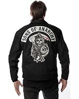 Sons of Anarchy Mechanics Jacket Black - Grim Reaper Logo Patch