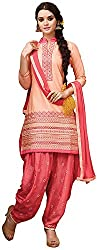 Awesome Women's Cotton Silk Unstitched Dress Material (Peach)