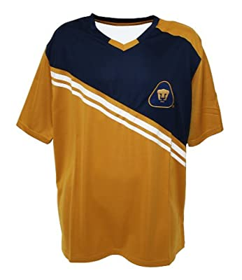 Federacion Mexicana de Futbol Asociacion Adult Pumas Performance Polyshirt - Home (Gold, Medium)