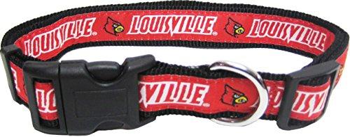 Pets First Collegiate Louisville Cardinals Pet Collar, Medium