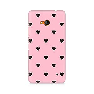 Ebby Pink Hearts Premium Printed Case For Nokia Lumia 640