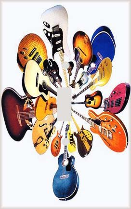 Guitar Flower Decorative Switchplate Cover