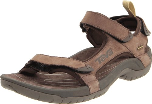 Teva Men's Tanza Leather Brown Sandal 1000183 6 UK, 7 US