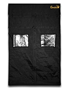 Gorilla Grow Tent GGT55 Tent, 5 by 5 by 6-Feet/11-Inch, Black