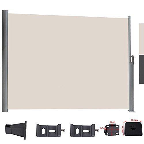 songmics 160 x 300 cm frangivento tenda avvolgibile a rullo paravento laterale da sole recinto. Black Bedroom Furniture Sets. Home Design Ideas