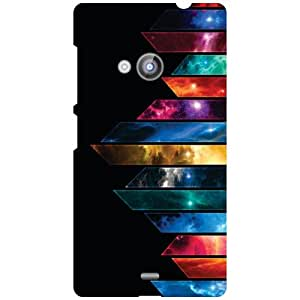 Nokia Lumia 535 Phone Cover - Colored Lines Matte Finish Phone Cover